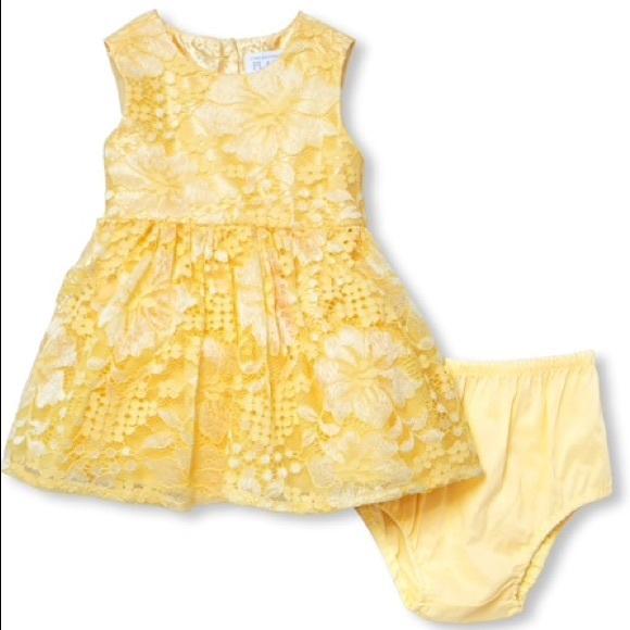 Yellow Lace Children's Place Dress